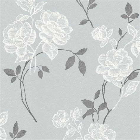 Lutece Paste The Wall Floral Grey Wallpaper