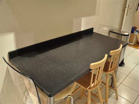 plan de travail cuisine avec evier integre granits déco plan de travail en granit noir