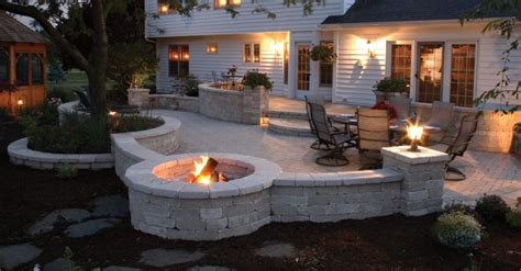 Unilock Fireplace Dimensions - pit or outdoor fireplace for your cambridge ontario