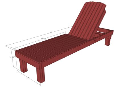 dimension chaise white 35 wood chaise lounges diy projects