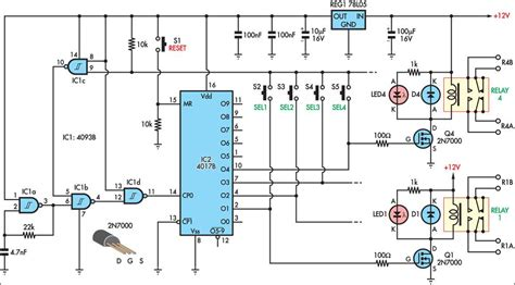 pushbutton relay selector repository circuits 46947 next gr