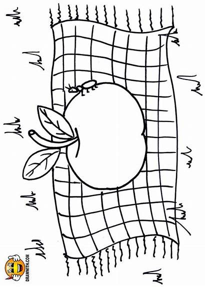 Coloring Blanket Pages Apple Drawing Draw Toddlers