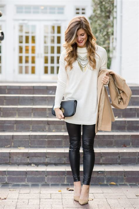 Winter Date Night Outfit faux leather leggings