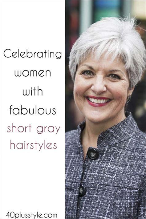 celebrating women  fabulous short gray hairstyles