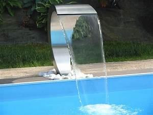 Piscine Inox Prix : cascade fontaine pour piscine et bassin ~ Carolinahurricanesstore.com Idées de Décoration