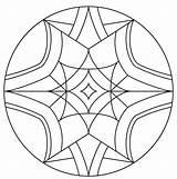 Kaleidoscope Coloring Pages Drawing Printable Simple Supercoloring Mandala Thumbnail Getdrawings Categories sketch template