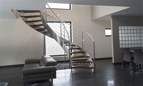 escalier h 233 lico 239 dal inox design int 233 rieur contemporain escalier other metro par