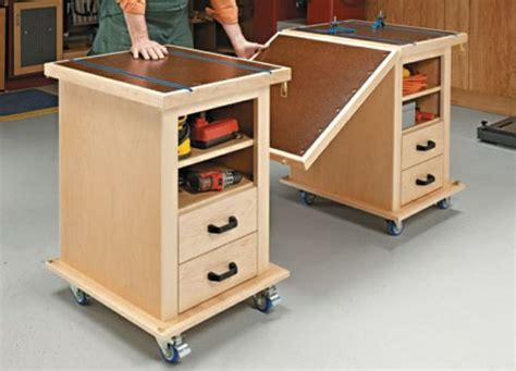multi function workshop drawers shop carts diy
