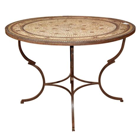 mosaic top garden dining table at 1stdibs