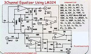 3 Channel Equalizer Using Lm324