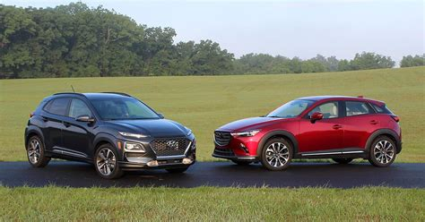 Mazda Hyundai by Comparison Test 2018 Hyundai Kona Vs 2019 Mazda Cx 3