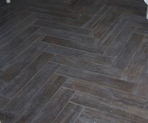 herringbone wood look tiles add radiant heat underfoot