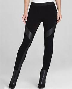 Lyst - Bcbgmaxazria Leggings Luca Faux Leather Contrast in Black