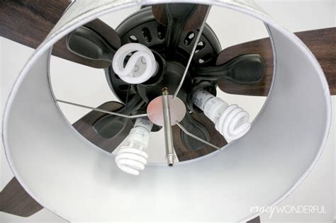 fan light shades diy drum shade ceiling fan wonderful