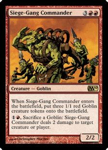 budget goblin commander deck siege commander magic card