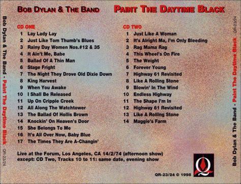 bob dylan  band paint  daytime black
