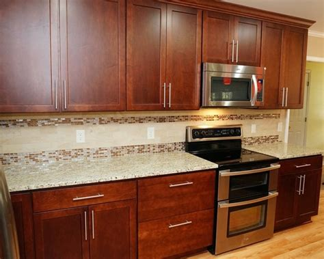 Kitchen Backsplash Designs With Oak Cabinets by 403 Forbidden