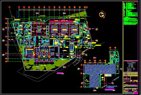 convention center  floor plans  dwg design plan