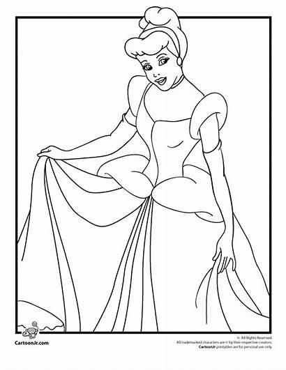 Cinderella Coloring Pages Disney 1950 Printable Princess