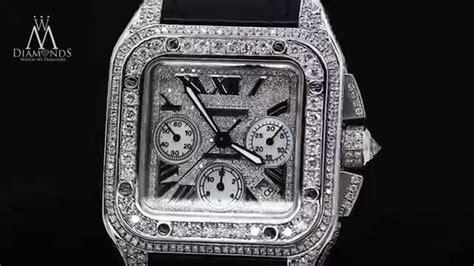 cartier santos  xl chronograph diamond case diamond