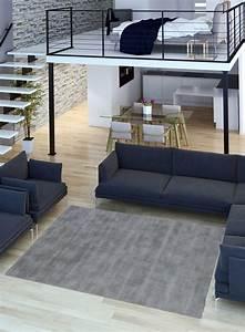 tapis salon en pure laine clip gris clair With tapis salon gris clair
