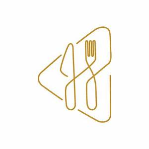 Restaurant logo designed in a really creative manner. Use ...