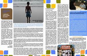 best photos of two page newsletter template pages With two page newsletter template
