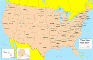 Us Map With Cities And States Thempfa