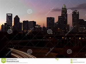 Charlotte NC At Dusk Royalty Free Stock Image
