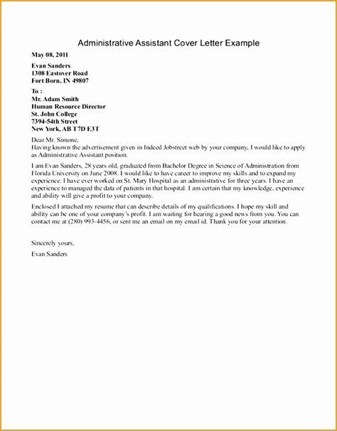 5 free sle cover letter for resume free sles