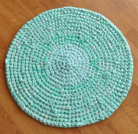 bath rug mat  dinner mint pastel green upcycled rug