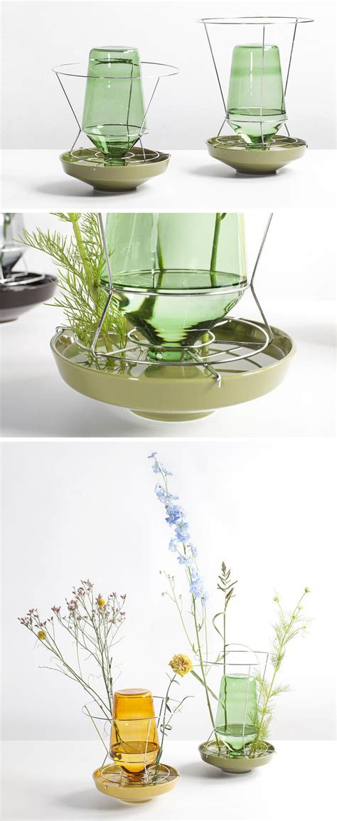 Colorful Vases by These Colorful Glass Vases Put The Flower Stems On Display