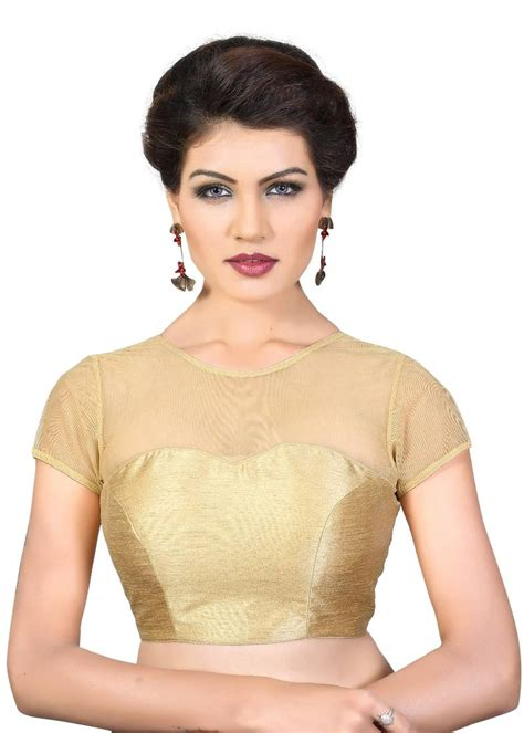 lining curtains with sheets buy gold plain georgette readymade blouse