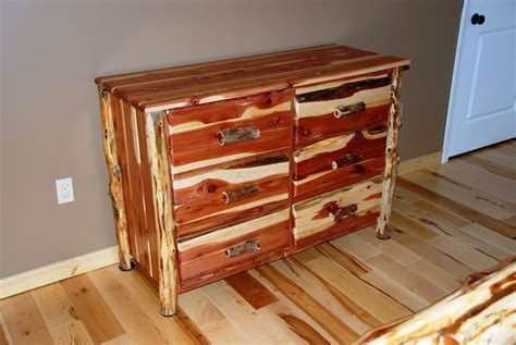 30015 log bedroom furniture present dresser chest of drawers rustic cedar hancrafted log