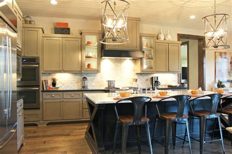 Crown Moulding Ideas For Kitchen Cabinets - gray kitchen cabinets with black island