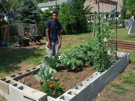 cinder block garden cinder blocks are an easy way to build raised garden beds