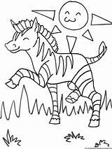 Zebra Coloring Pages Printable Cute Cartoon Head Getcoloringpages Stripes sketch template
