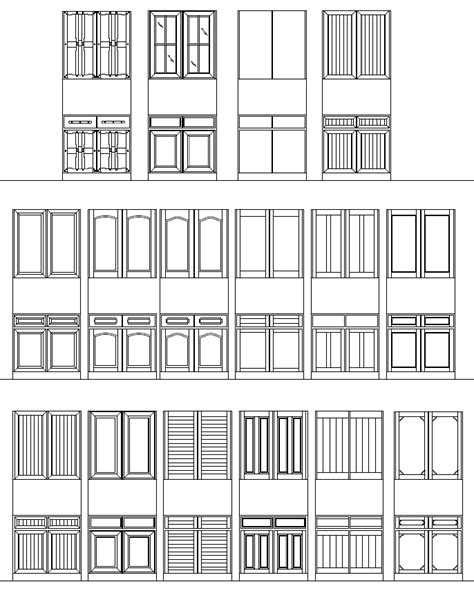 AutoCAD Doors Blocks Library - Exterior Door AutoCAD