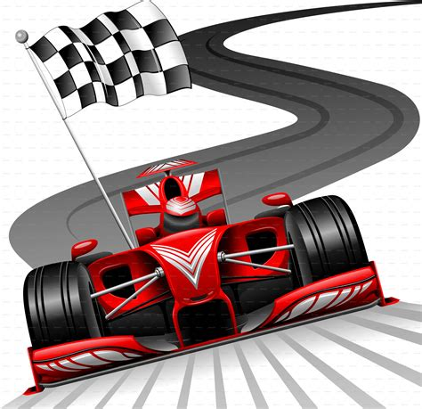 Formula 1 Red Car On Race Track By Bluedarkat