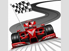 Formula 1 Red Car on Race Track by Bluedarkat GraphicRiver