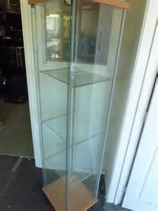 ikea detolph detolf glass display cabinet ebay