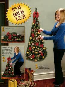 wall mounted artificial half christmas tree amazing christmas ideas