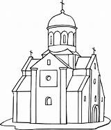 Church Coloring Pages Building Printable Drawing Outline Churches Medieval Empire State Dome Cathedral Drawings Jones Freecoloringpagefun Getdrawings Indiana Denis Magdalena sketch template