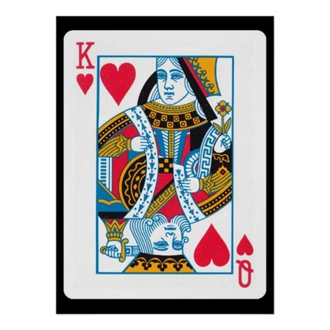 Almost any for home decor design art tapestry purpose: King and Queen of Hearts Poster | Zazzle.com