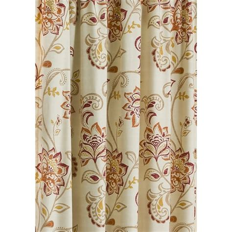 jacobean style floral eyelet curtains belfield furnishings jacobean spice paisley floral pencil