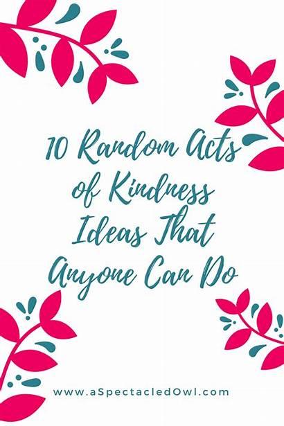Kindness Acts Random Anyone Talk Thing Christian