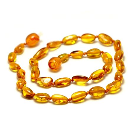 Cognac Baltic Amber Baby Teething Knotted Necklace
