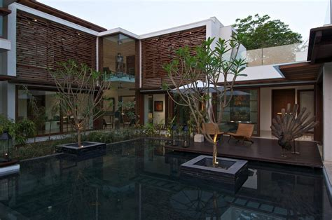 House With Courtyard by Courtyard House In Ahmedabad India
