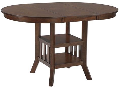 Renaburg Medium Brown Oval Counter Extendable Dining Table