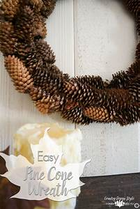 How, To, Make, A, Pine, Cone, Wreath, Fast